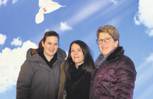 Evelyn Feutz, Christin Schindler, Silvia Rohrer, Spital STS Empfang